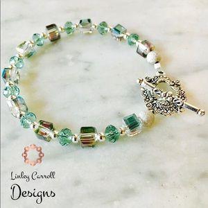 Jewelry - Austrian Crystal Peacock Bracelet